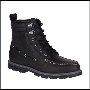 Men's Boots - Sperry Black Leather - Size 9.5